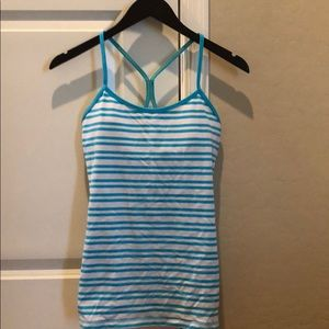 Lululemon Y back tank with built in bra